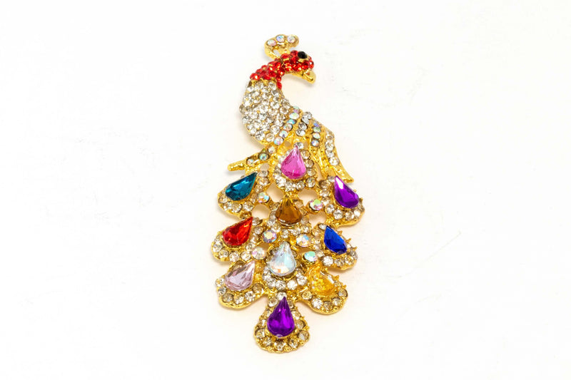 Flamboyant Peacock Dangling Pendant - Trendz & Traditionz Boutique