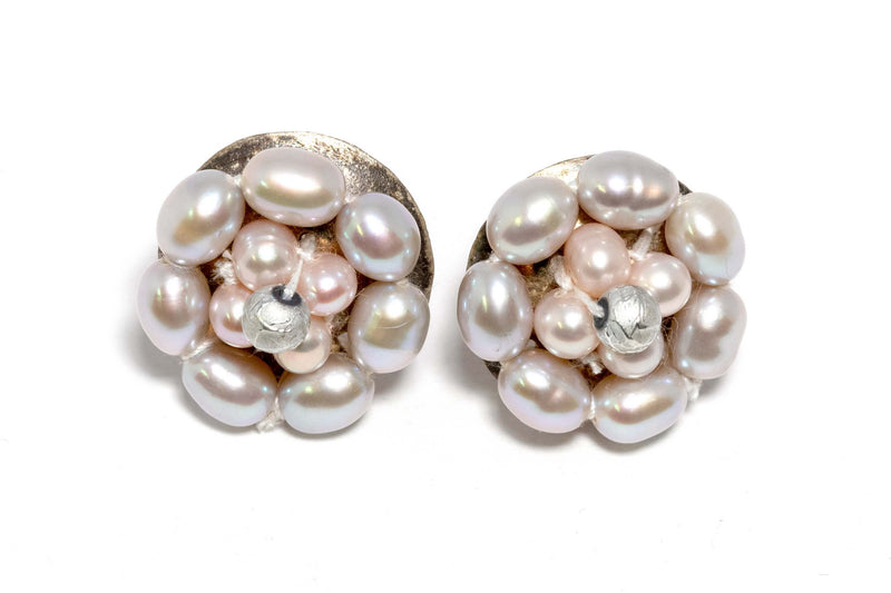 Flower Shaped Pink Pearl Stud Earrings  - Trendz & Traditionz Boutique