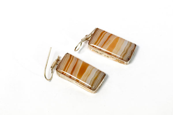 Agate Dangle Earrings - Trendz & Traditionz Boutique