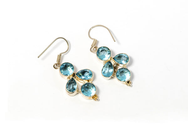 Blue Stone Dangle Earrings - Trendz & Traditionz Boutique
