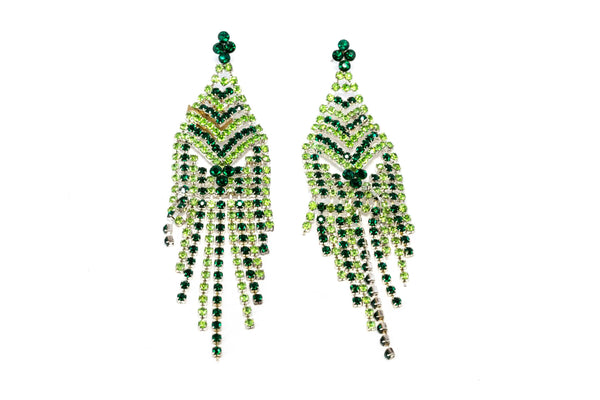 Green Chandelier Earrings - Trendz & Traditionz Boutique