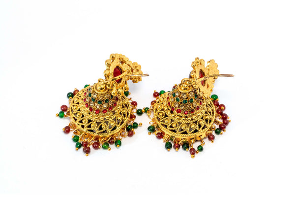 Gold Festive Dangle Earrings - Trendz & Traditionz Boutique
