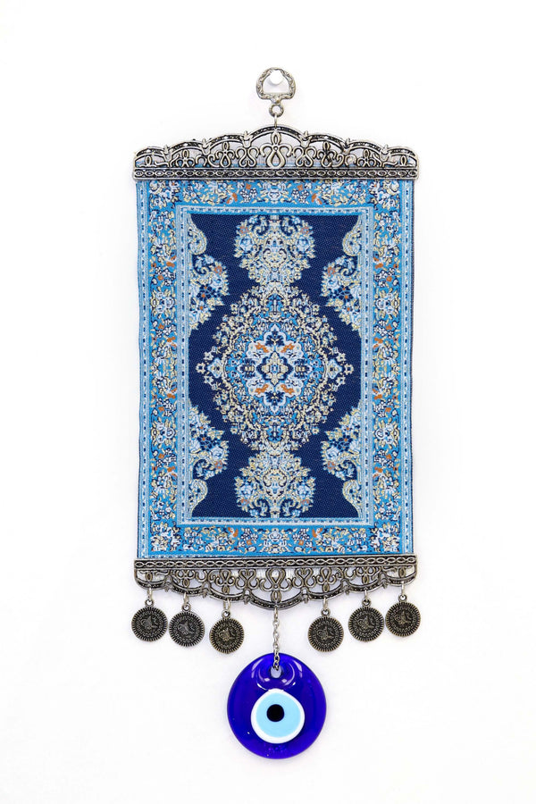 Blue Turkish Evil Eye Wall Rug - Trendz & Traditionz Boutique