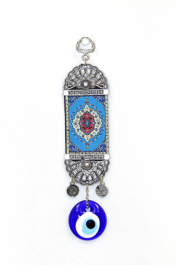 Miniature Blue Turkish Evil Eye Wall Rug - Trendz & Traditionz Boutique