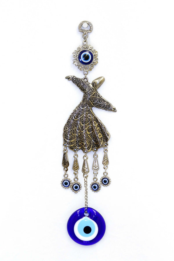 Silver Turkish Evil Eye Wall Decoration - South Asian Fashion & Unique Home Decor