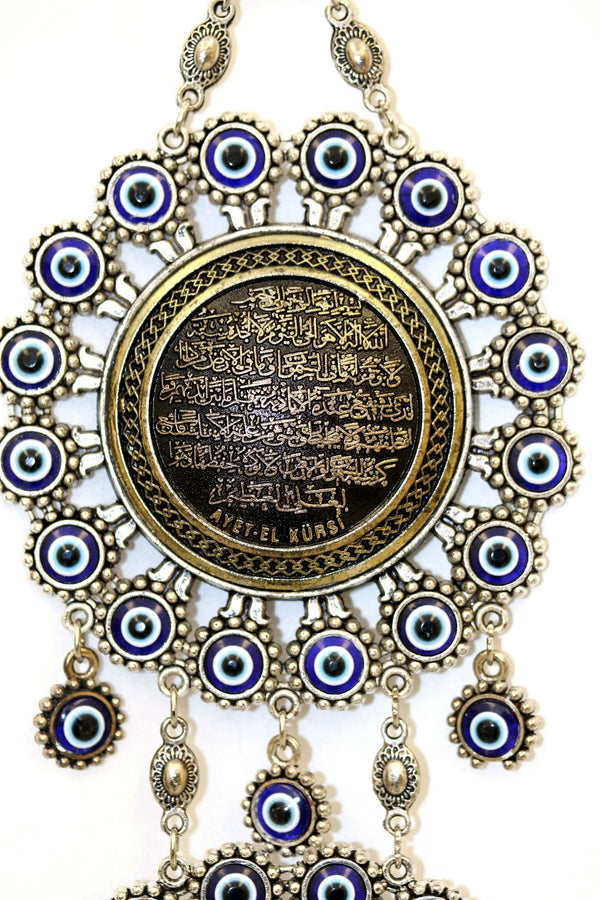 Turkish Evil Eye Clock - South Asian Fashion & Unique Home Decor