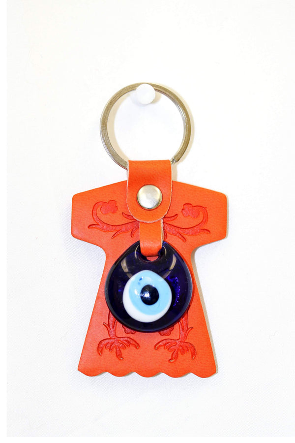 Turkish Evil Eye Orange Key chain - Trendz & Traditionz Boutique