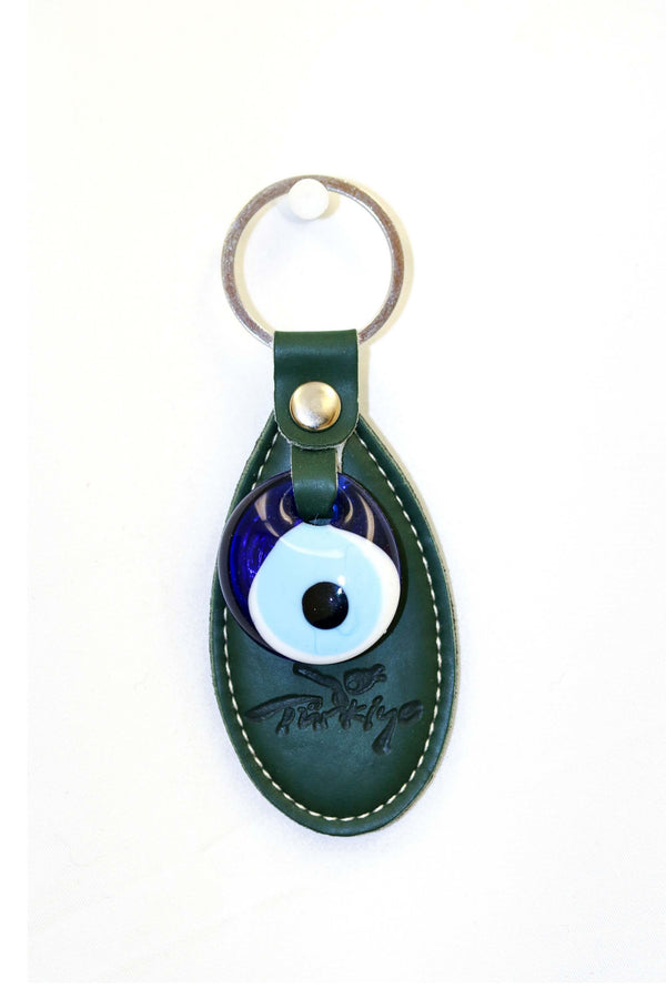 Turkish Evil Eye Green Key Chain - Trendz & Traditionz Boutique