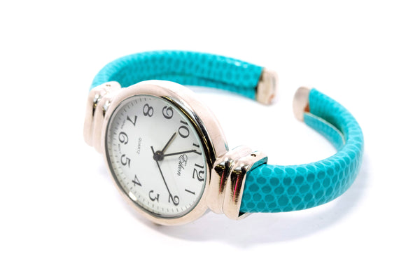 Silver Face Turquoise Watch