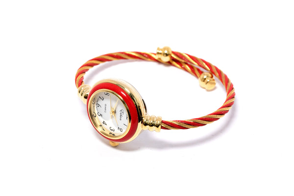 Red & Gold Watch - South Asian Jewelry