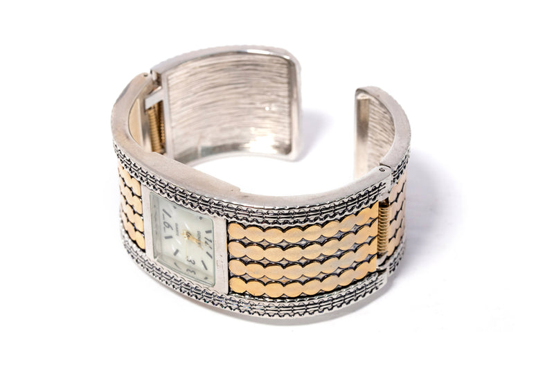 Silver & Gold Bracelet Watch - Unique South Asian Accessories