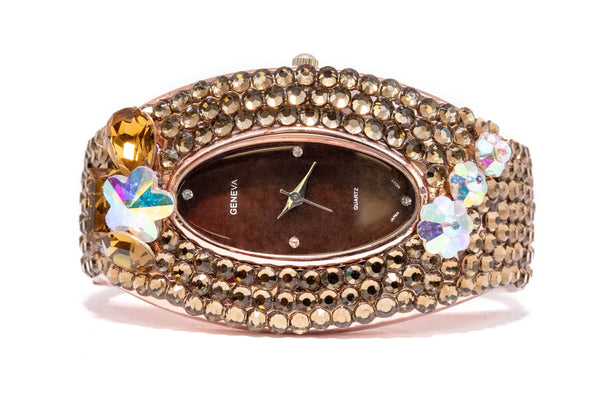 Rose Gold Geneva Watch - Jewelry - South Asian Fashion