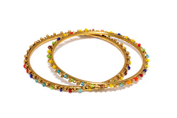 Colorful Gold Bangles - South Asian Jewelry