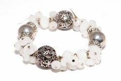 White beaded bracelet - Traditional & Fine South Asian Jewelry
