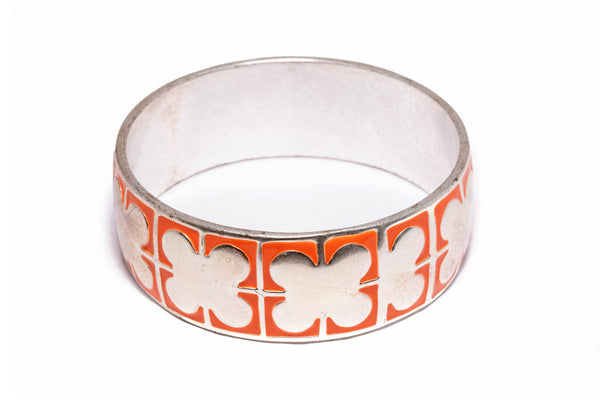 Metal Butterfly bracelet - Orange - Unique South Asian Accessories