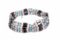 Pink & Blue Magnetic Bracelet - South Asian Jewelry and Accessories