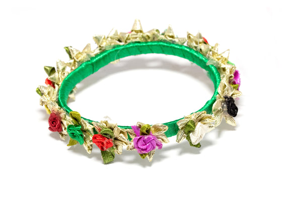 Vibrant Green Bangle Bracelet - Traditional & Fine South Asian Jewelry