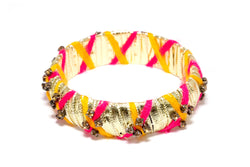 Ribbon Wrapped Bangle - Unique South Asian Fashion