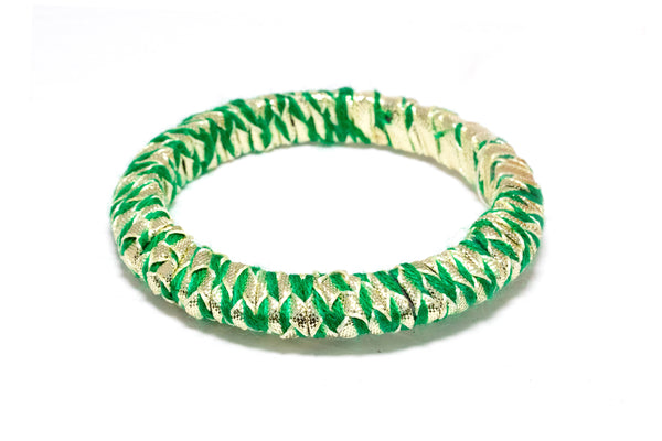 Simple Green Ribbon Bangle - Bracelet - Ethnic Indian Jewelry