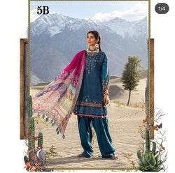 Ocean Blue Salwar Kameez-Suit- Maria B - Trendz & Traditionz Boutique