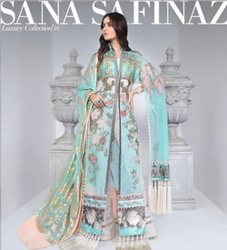 Teal Salwar Kameez-Suit Sana Safinaz - Trendz & Traditionz Boutique
