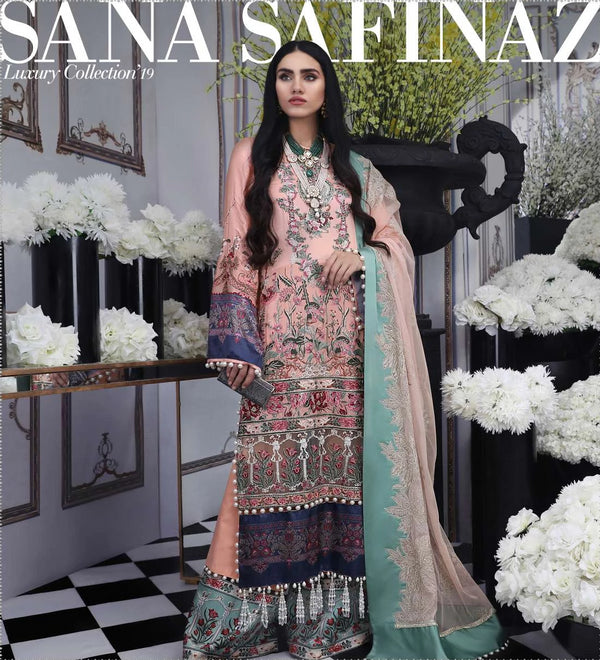 Pink Satin Salwar Kameez-Suit- Sana Safinaz - Trendz & Traditionz Boutique