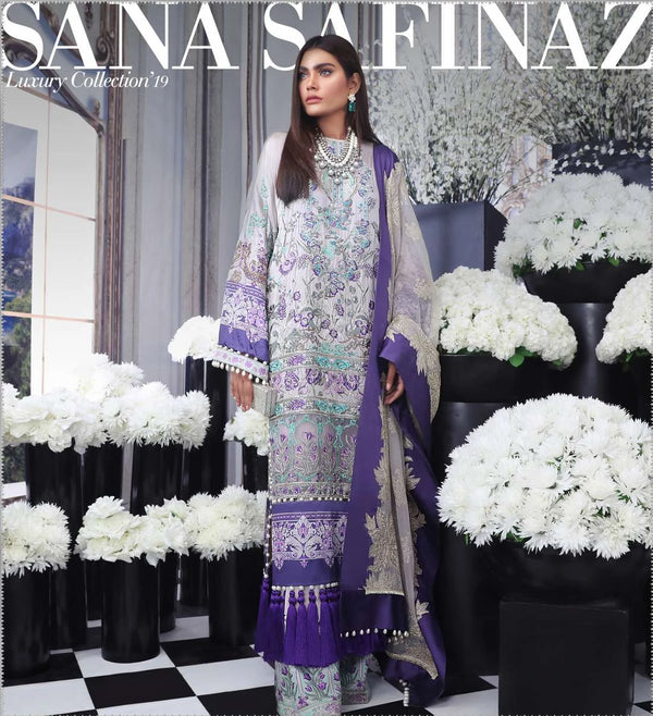 Purple Salwar Kameez-Suit - Sana Safinaz - Trendz & Traditionz Boutique