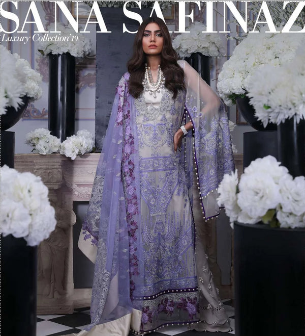 Purple Net Salwar Kameez-Suit- Sana Safinaz - Trendz & Traditionz Boutique