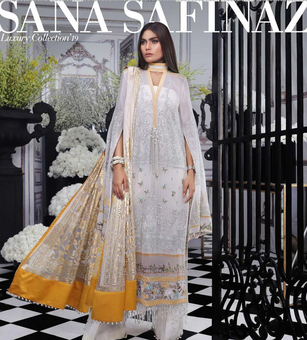 Cream Salwar Kameez-Suit- Sana Safinaz - Trendz & Traditionz Boutique