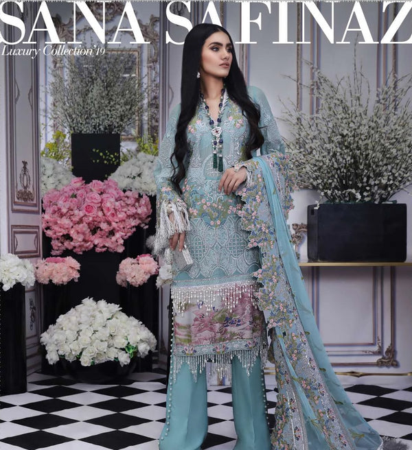 Blue Salwar Kameez-Suit-Sana Safinaz - Trendz & Traditionz Boutique