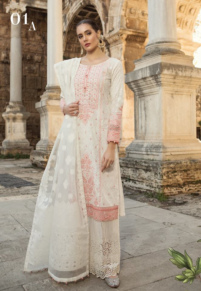 Maria b. Cotton-Lawn Summer 2019 Suit Salwar Kameez- Trendz & Traditionz Boutique