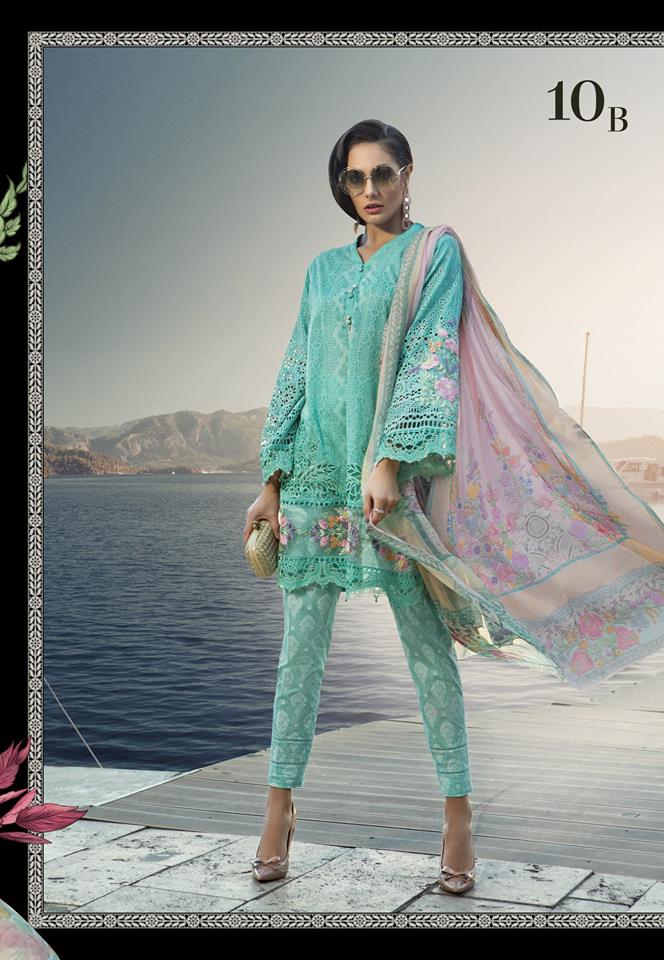 Maria B. Summer 2019 Cotton-Lawn Suit.- Trendz & Traditionz Boutique