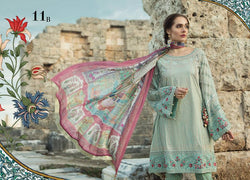 White Maria B. Summer 2019 Lawn-Cotton Suit- Trendz & Traditionz Boutique
