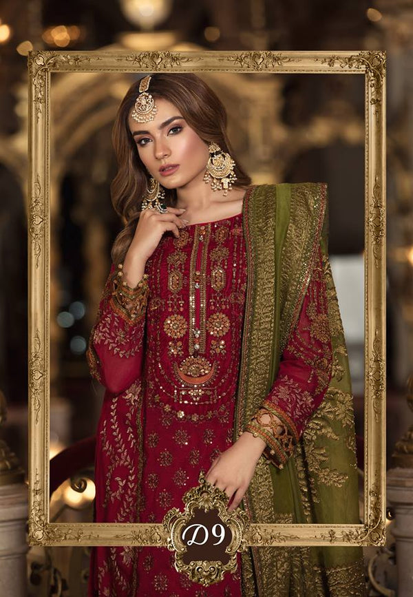 Maria b. Wedding Silk Suit- Trendz & Traditionz Boutique