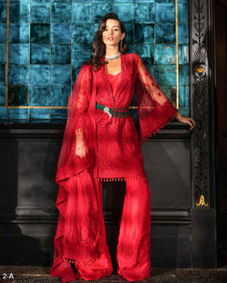 Red Salwar Kameez-Suit- Sobia Nazir - Trendz & Traditionz Boutique