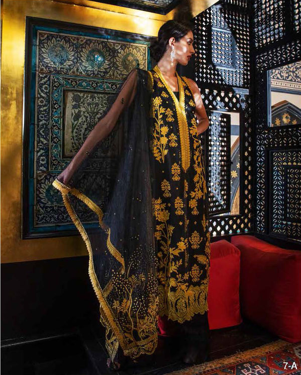 Black Net Salwar Kameez-Suit - Sobia Nazir - Trendz & Traditionz Boutique