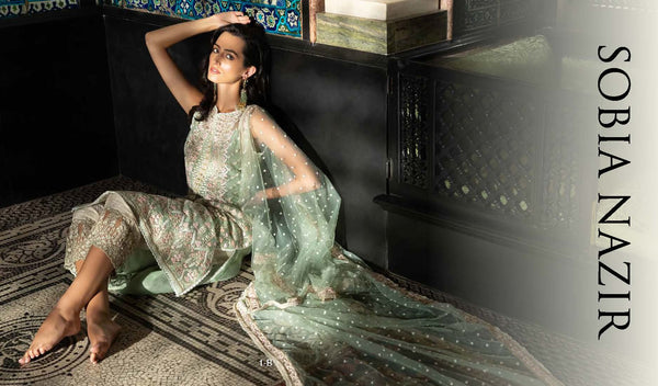 Mint Salwar Kameez-Suit - Sobia Nazir - Trendz & Traditionz Boutique