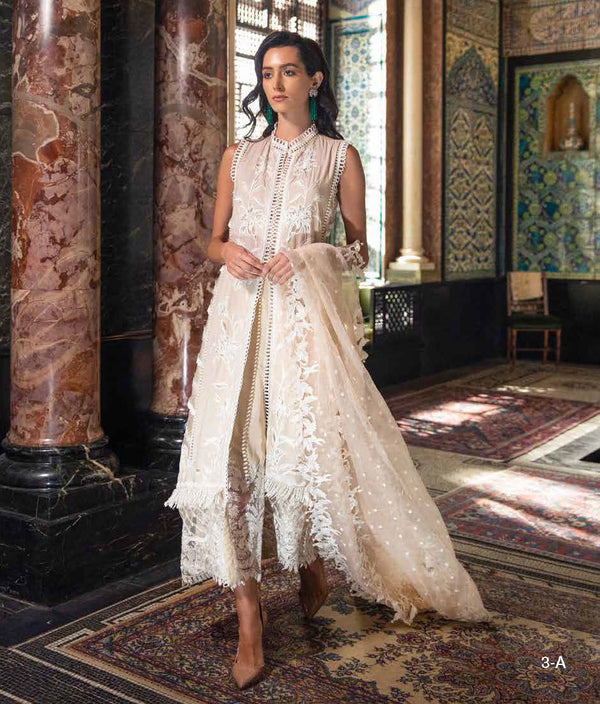 Cream Lawn Salwar Kameez-Suit - Sobia Nazir Festive 2019 - Trendz & Traditionz Boutique