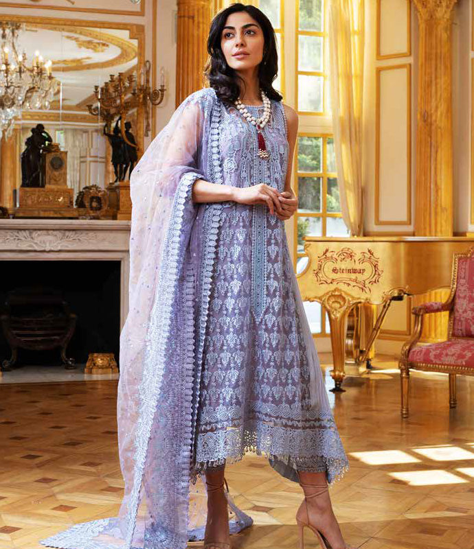 Purple Salwar Kameez-Suit Sobia Nazir - Trendz & Traditionz Boutique