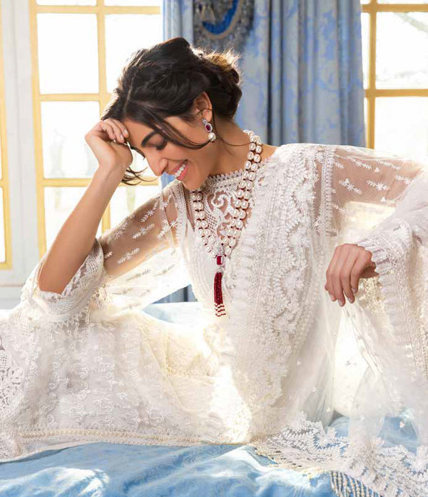 White Salwar Kameez - Suit Sobia Nazir Lawn 2019 - Trendz & Traditionz Boutique