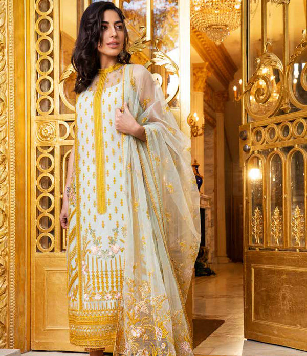 Net Salwar Kameez- Suit - Sobia Nazir Lawn 2019 - Trendz & Traditionz Boutique