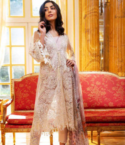 White Salwar Kameez-Suit - Sobia Nazir - Trendz & Traditionz Boutique