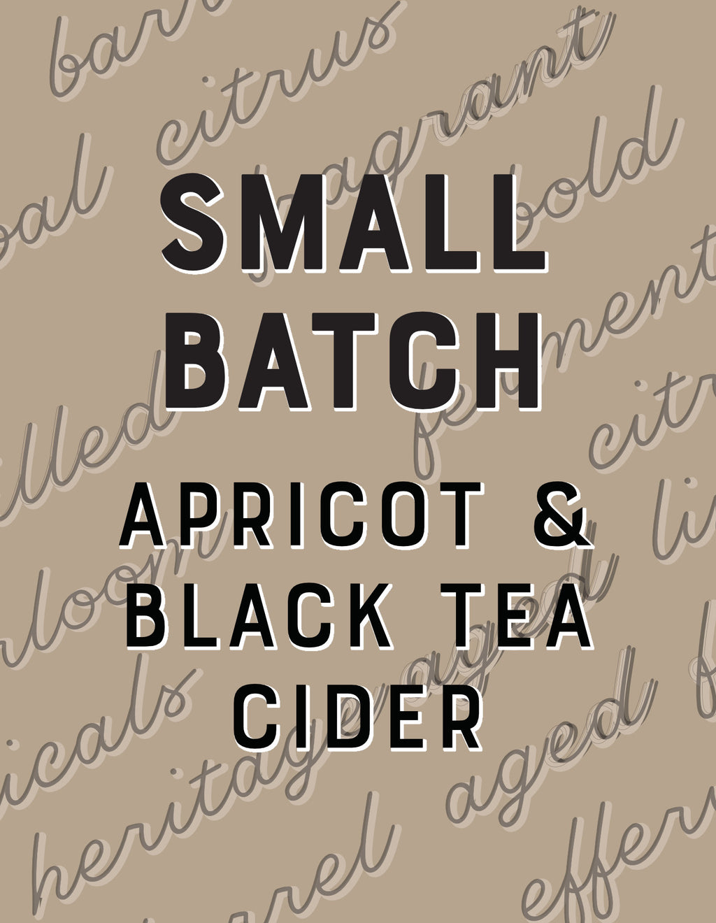 Apricot & Black Tea Cider