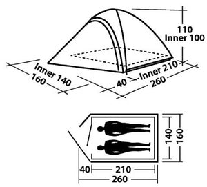 Easy Camp Meteor 200 Tent 2 Persoons