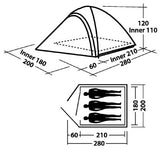 Easy Camp Meteor 300 Tent oranje 3 Persoons