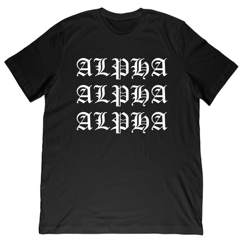 Alpha Old English Black Tee