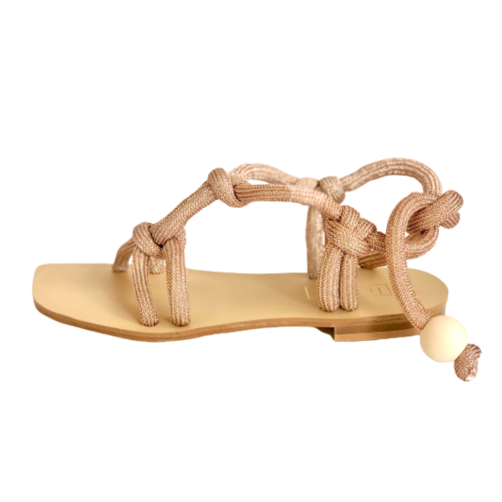 Sandalias de piso Empire rose gold