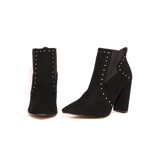 botin Lexington tacon ancho negro