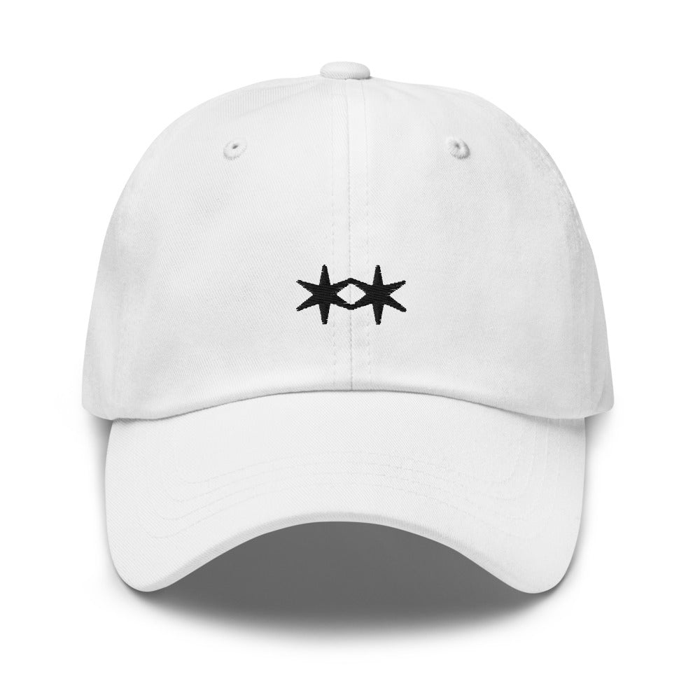 White Embroidered Hat