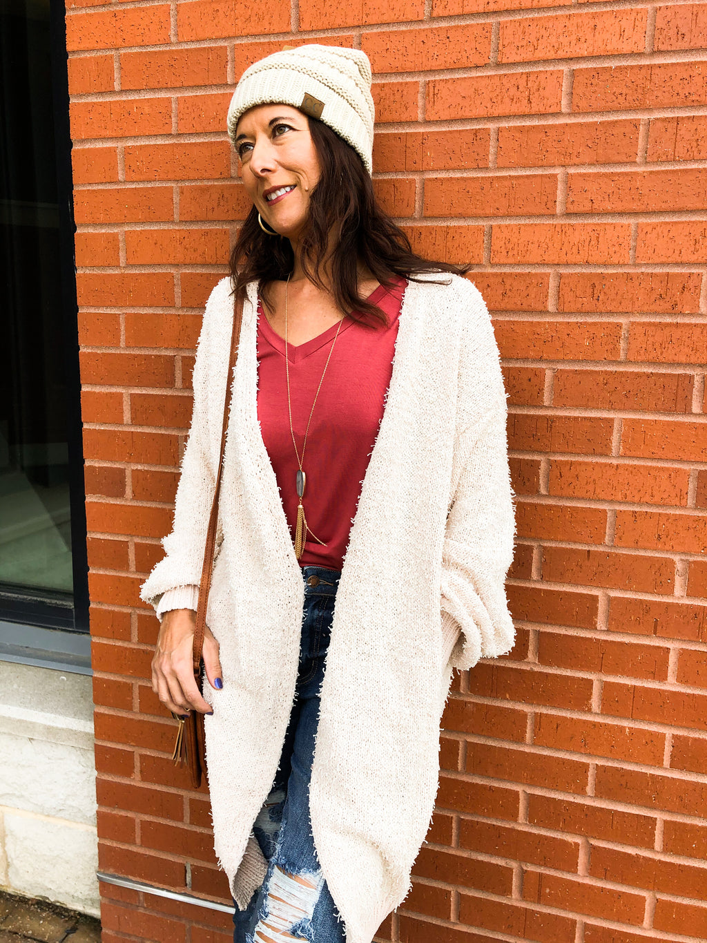 Shaggy Cardigan with Pockets